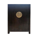 SHOE CABINET ORIENT 2DR DARK WOOD MQZ-38