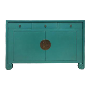SIDEBOARD SCROLL 3DW2DR TURQUOISE MQZ-19