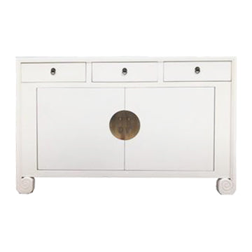 SIDEBOARD SCROLL 3DW2DR WHITE MQZ-19