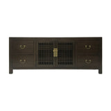 TV CONSOLE LATTICE 1.8M DARK WOOD MQZ-11