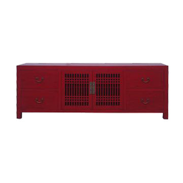 TV CONSOLE LATTICE 1.6M RED WASH MQZ-28