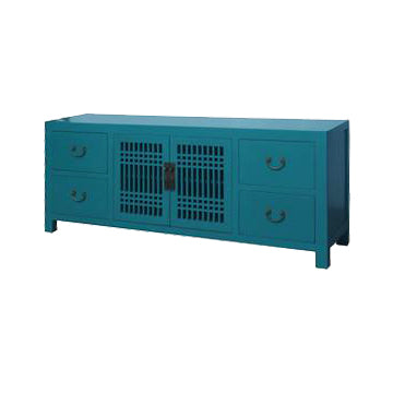 TV CONSOLE LATTICE 1.8M TURQUOISE MQZ-11