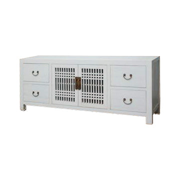 TV CONSOLE LATTICE 1.8M WHITE WASH MQZ-11