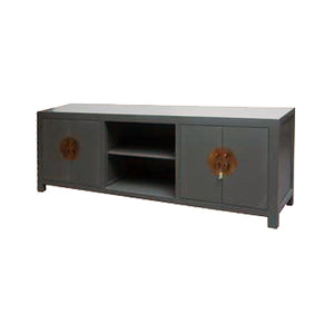 TV CONSOLE OPEN SHELVES ORIENT GREY MQZ-04