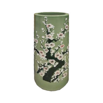 UMBRELLA STAND APPLE GREEN PORCELAIN 20
