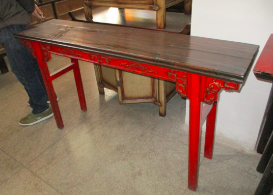 CONSOLE TABLE DONGBEI RED CH-058