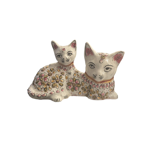 DOUBLE CAT ENAMEL WHITE 5