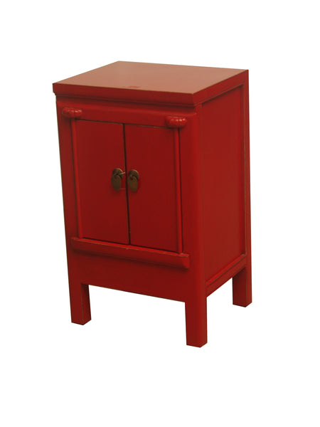 CABINET SMALL JIE 2DR RED 3CH-008 36X30X60CM