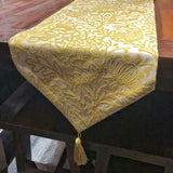 TABLE RUNNER 2.5MT EMB FLEUR YELLOW