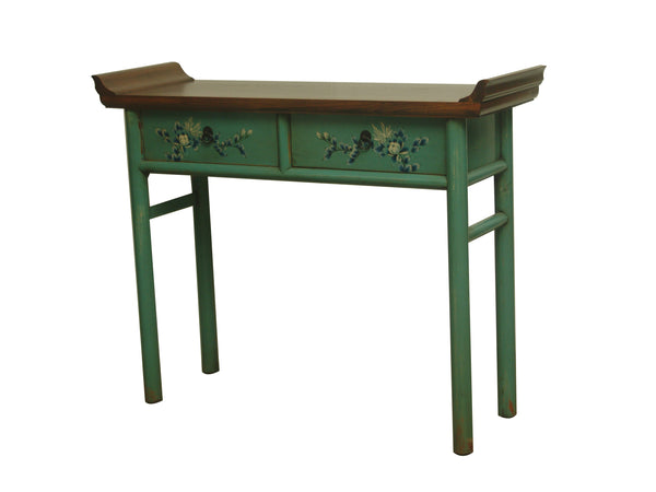 CONSOLE CURVED TOP 2DW PAINTED 3CH-027 115X37X91CM