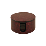 LACQUER ROUND COASTER STRIPE RED