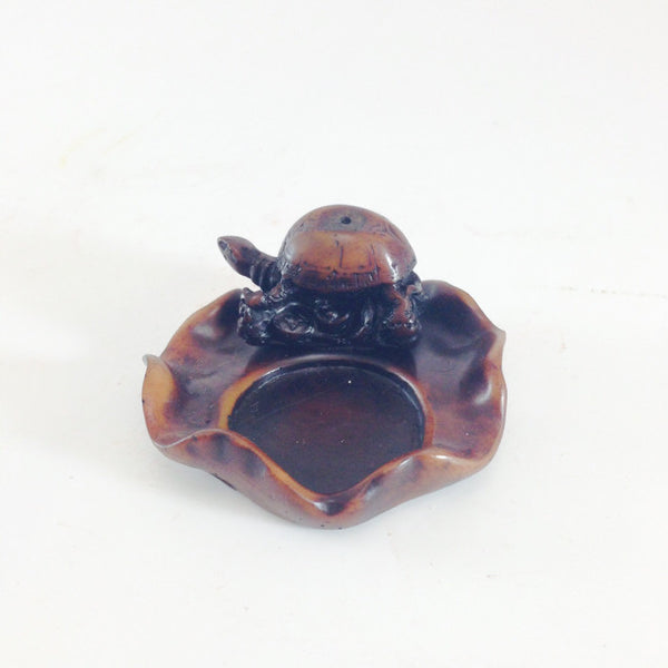 INCENSE HOLDER TURTLE BROWN