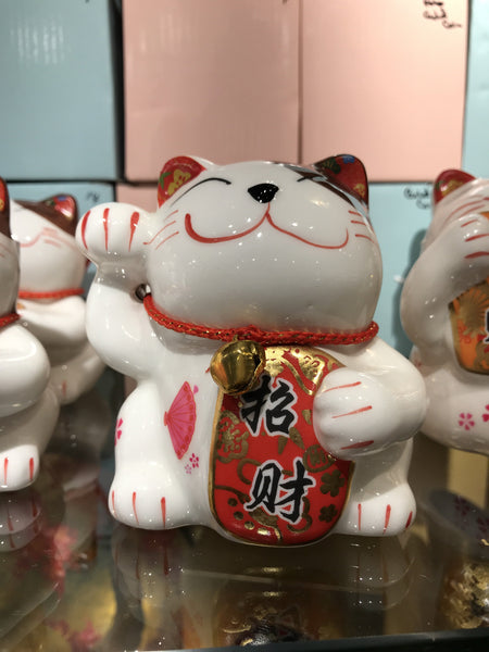 "LUCKY CAT 4"" WHITE"