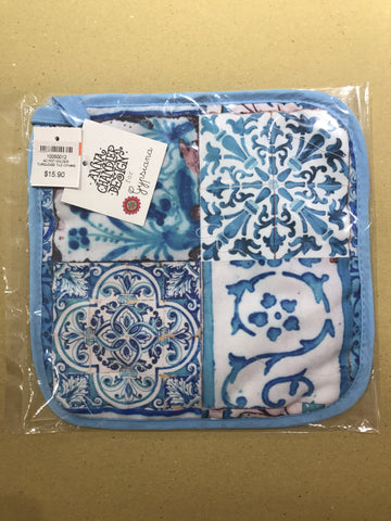 AC POT HOLDER TURQUOISE TILE CPH#46