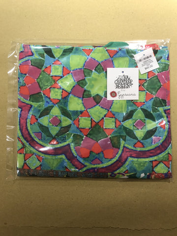 AC APRON CANVAS GREEN PATCHWORK CA#19