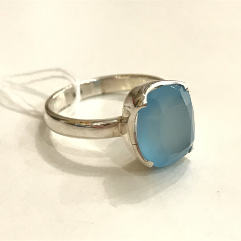 EI-171 925 SILVER CHALCEDONY RING