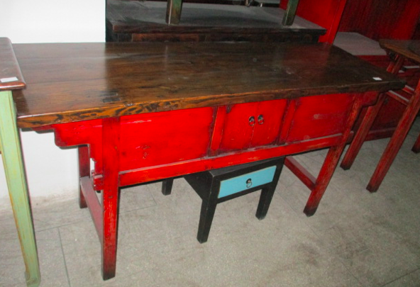 CONSOLE TABLE DONGBEI 2DR CH-056 *OLD PIECE*
