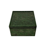 LACQUER SQUARE BOX STRIPE GREEN