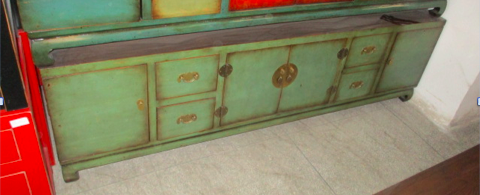 TV CONSOLE 4DR4DW GREEN CH-009