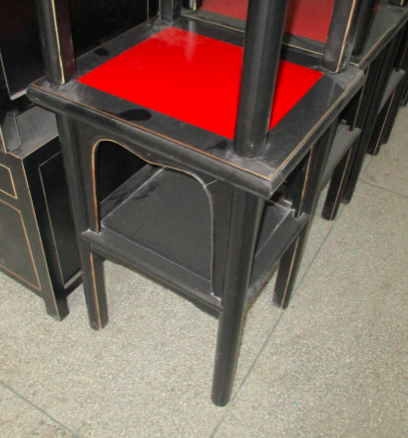 TEA TABLE BLK/RED CH-019