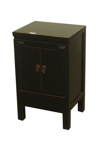 CABINET SMALL JIE 2DR BLACK 3CH-008 36X30X60CM