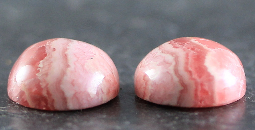 Pink Rhodochroiste Pair Natural Gems Cabochons Stones Wire Wrapping & Bezel Setting (B1468)