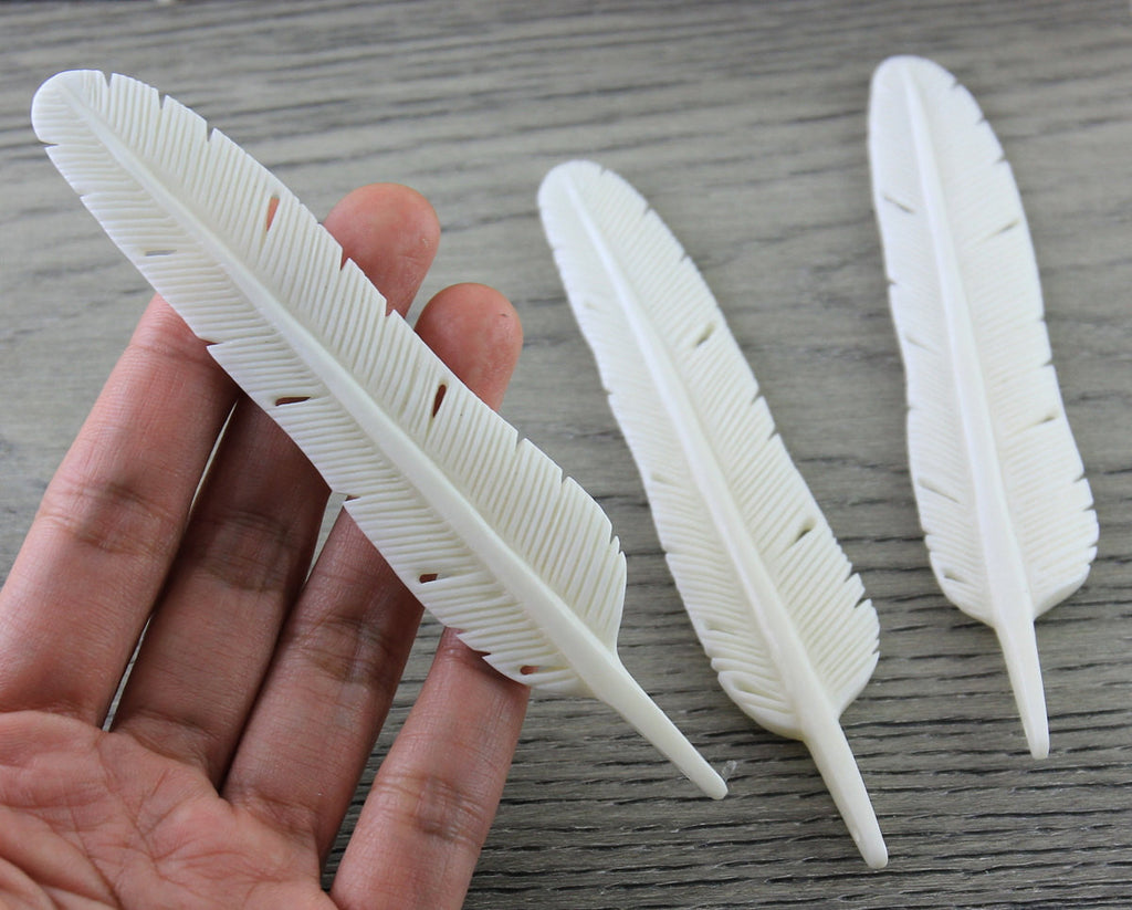 Feather, Carved Bone