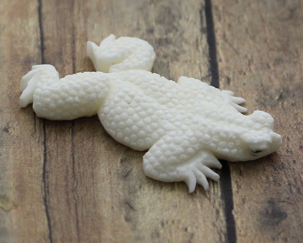 Frog Carving, Bone Adornment Ornament Centerpiece - Amphibian, Retptile, Animal Lover Gifts, Jewelry for Him Her Organic Pendant B161