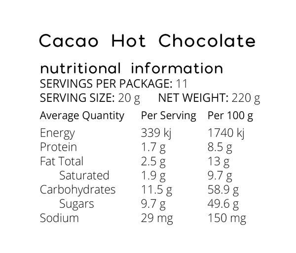 Original Cacao Hot Chocolate