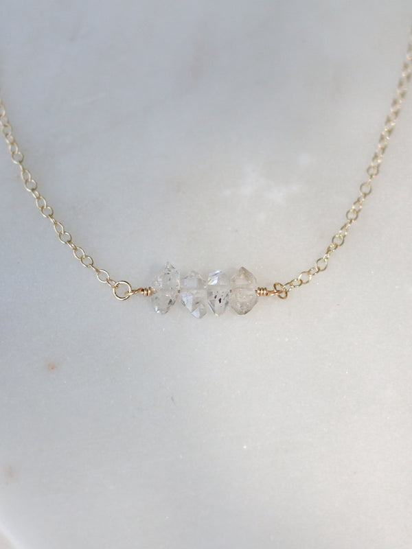 Herkimer Diamond Set Necklace