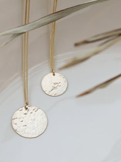 Large Hammered Coin Necklace