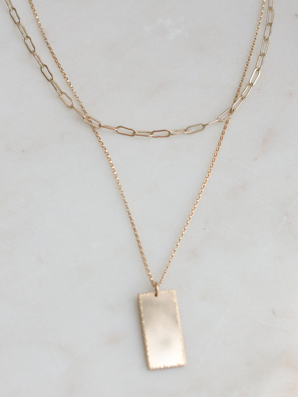 Bar Pendant & Chain Layering Set