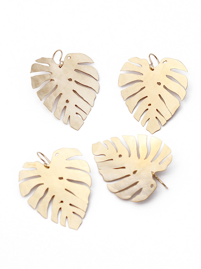 Delicious Monster Leaf Earrings