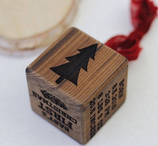 Lumberjack | Baby Block Ornament