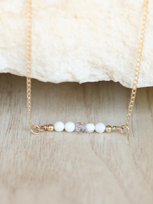 Howlite Herkimer Necklace