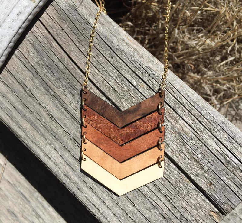 Multiple Chevron Necklace