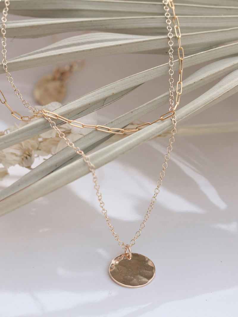 Basic Hammered Coin Necklace