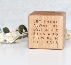 Flower Girl Block