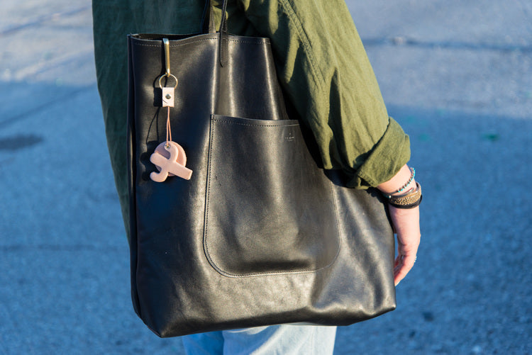 Leather Public Tote Bag
