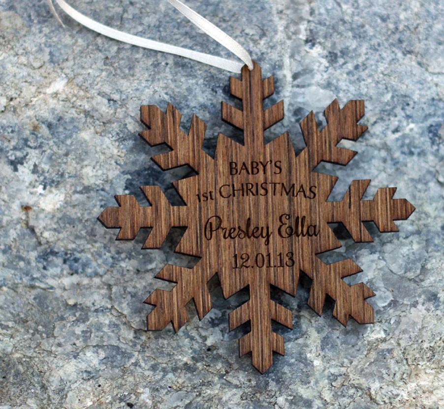 Baby's 1st Christmas Snowflake Ornament - COMPANY KIND