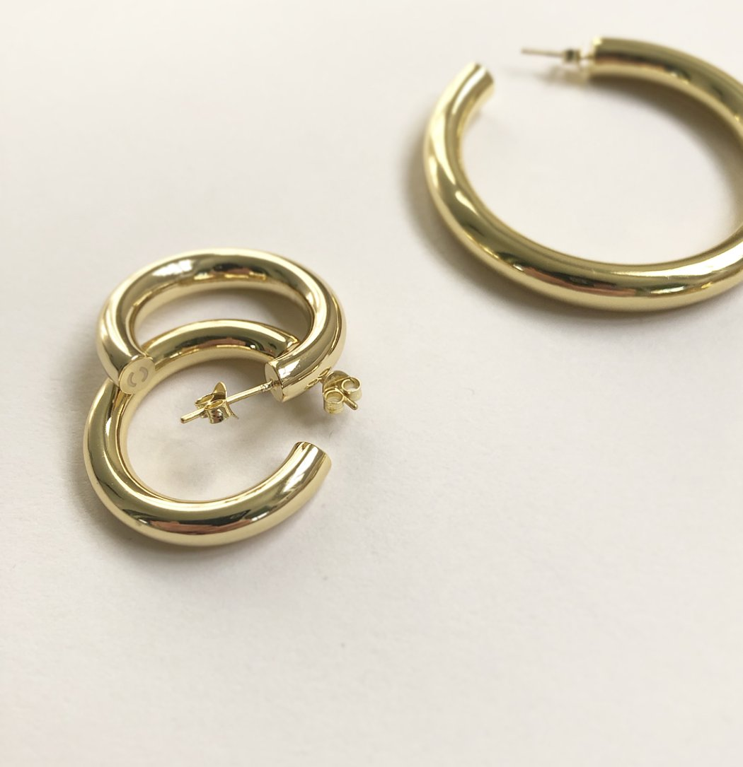 Bold Gold Hoop Earrings