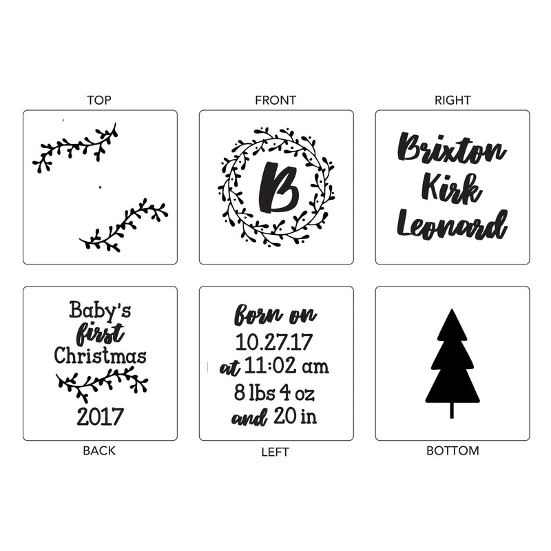 Branches | Baby Block Ornament