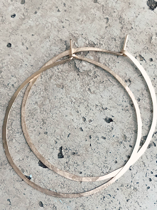 Flat AF Hoop Earrings