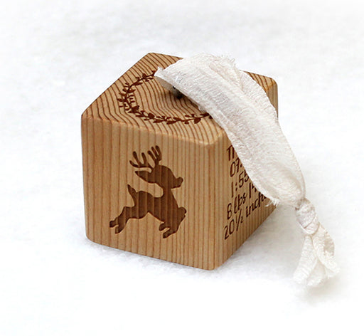 Reindeer | Baby Block Ornament