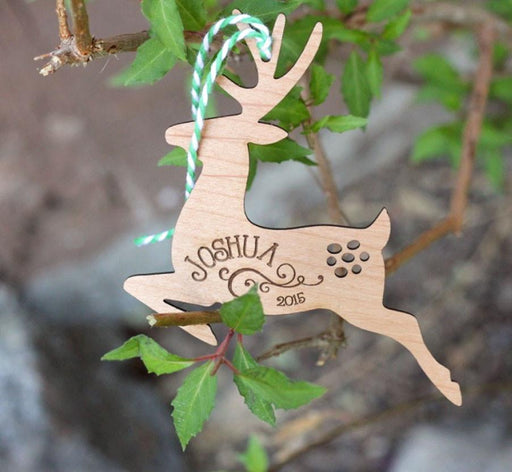 Leaping Reindeer Ornament