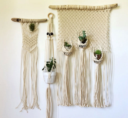 Simple Hanging Macrame Planter