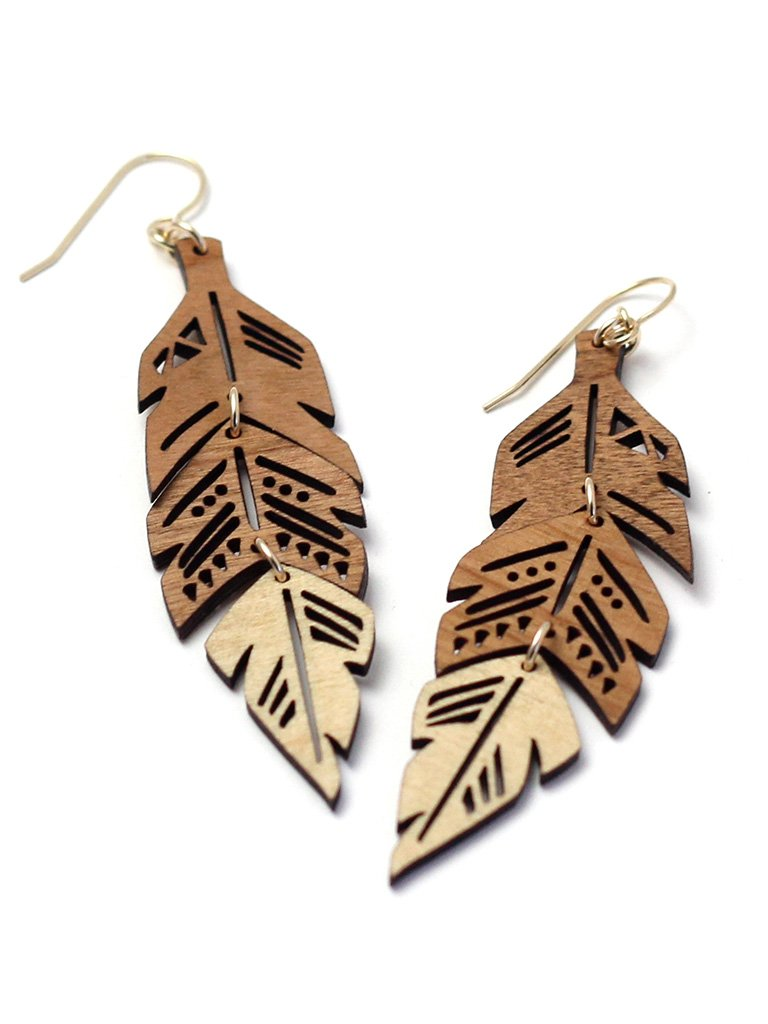 Tiered Feather Earrings
