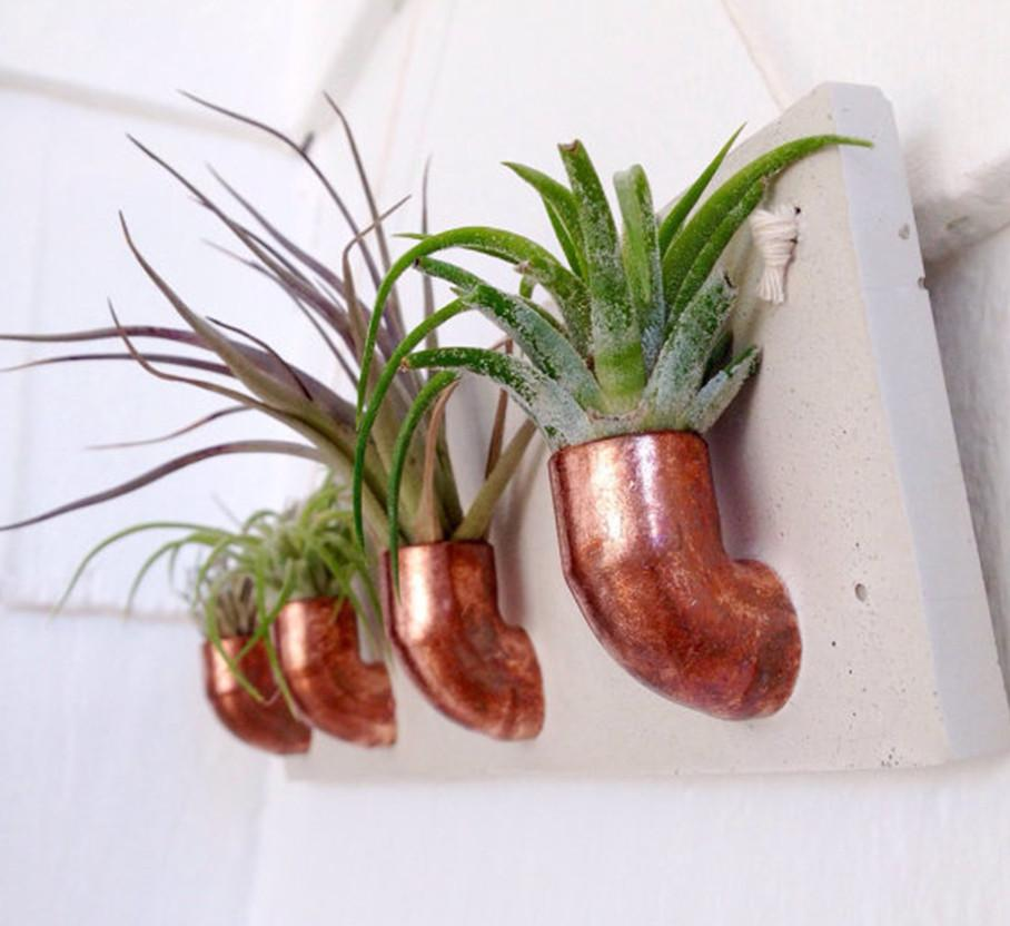 Copper + Cement Plant Holder