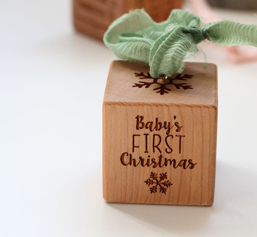 Snowflake | Baby Block Ornament
