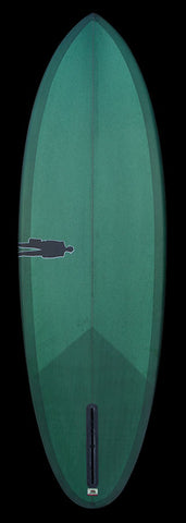 Bullet Single Fin | Forest resin tint